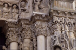 Chartres Cathedral, Ascension portal, capital frieze, the Magi before Herod, Annunciation to the Shepherds, Nativity, Visitation
