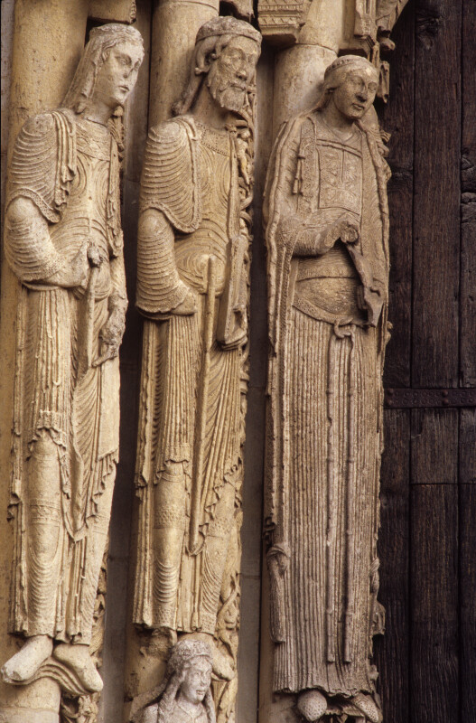 Chartres Cathedral, Ascension portal, left jamb figures