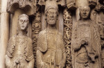 Chartres Cathedral, Ascension portal, left jamb figures and decorated colonnettes