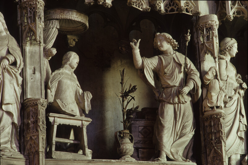 Chartres Cathedral, Choir Screen, Annunciation, Jean Soulas