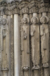 Chartres Cathedral, Maiestas Domini portal, left jamb figures