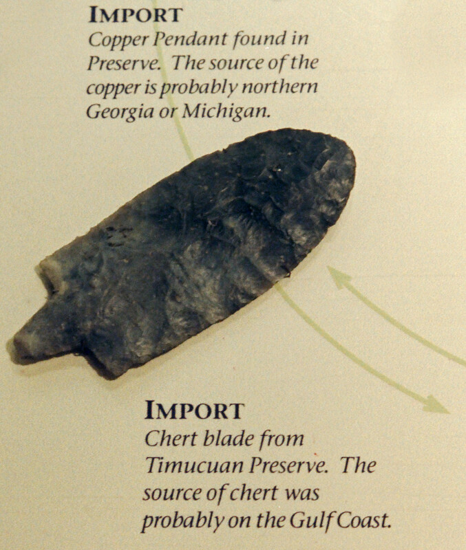 Chert Blade on Display