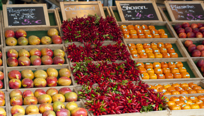 Chilies and Fruit