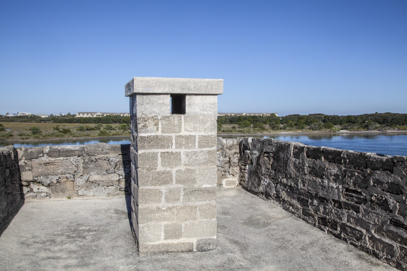 Chimney on Observation Deck at Fort Matanzas