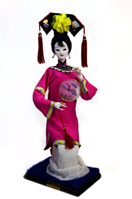 China Fabric Doll of Woman from the Qing Dynasty (Full View)