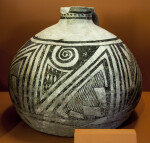 Chupadero Black-on-White Jar