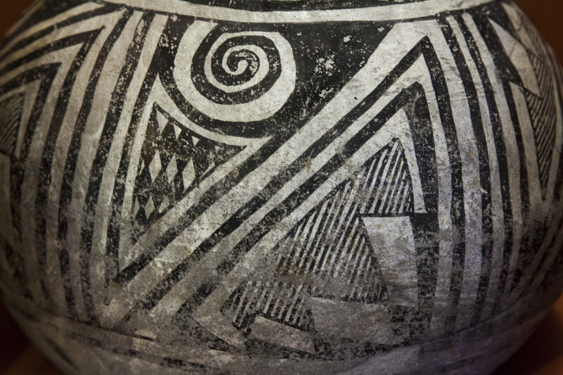 Chupadero Black-on-White Jar Detail