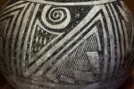 Chupadero Black-on-White Jar Detail