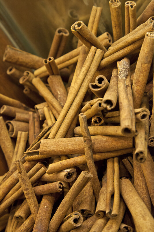 Cinnamon Sticks at the Spice Bazaar in Istanbul, Turkey