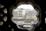 City Through a Peephole