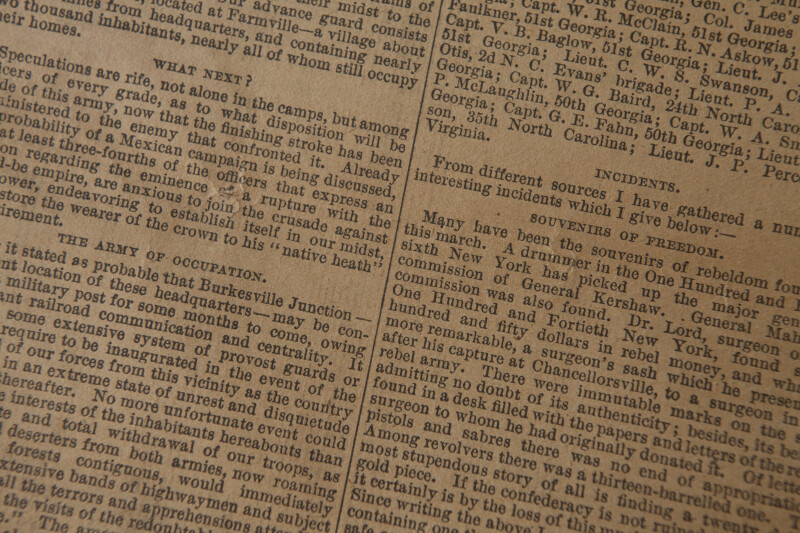 Civil War Newspaper
