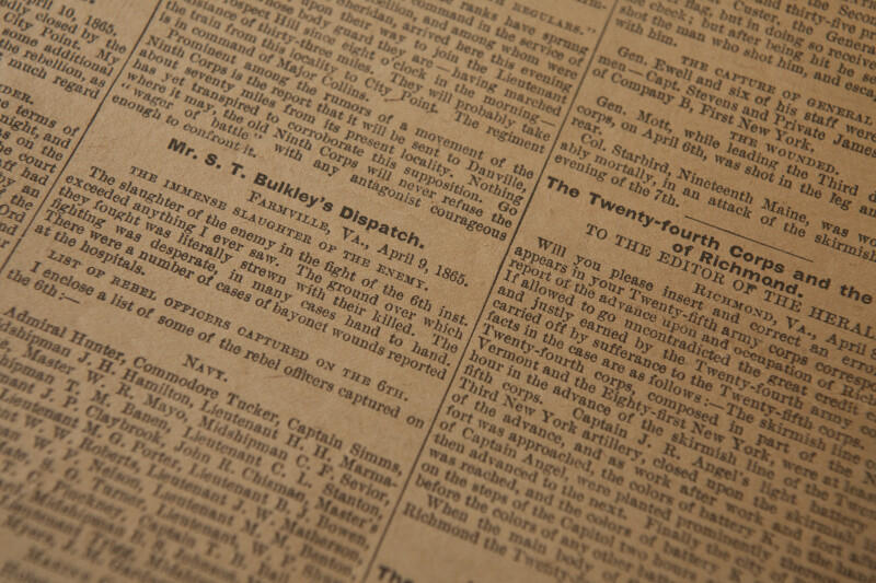 Civil War Newspaper Dispatches
