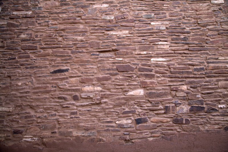 Close-Up Look at Red Sandstone Wall at Quarai