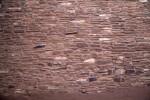 Close-Up Look at Red Sandstone Wall at Quarai