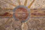 Close-up Look of a Fresco at Mission Concepción