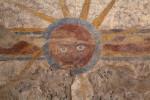 Close-up Look of a Fresco at Mission Concepción