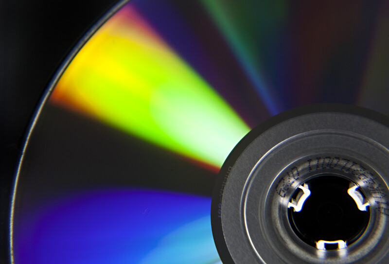 Close-Up of Disc in a Black Case