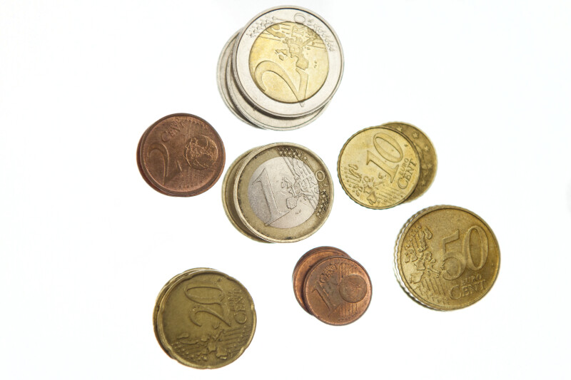 Close-up of Euro