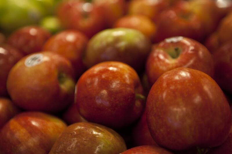 Close-up of Fuji Apples