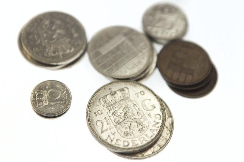 Close-up of Nederland Coins
