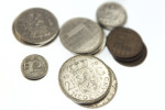Close-up of Nederland Coins