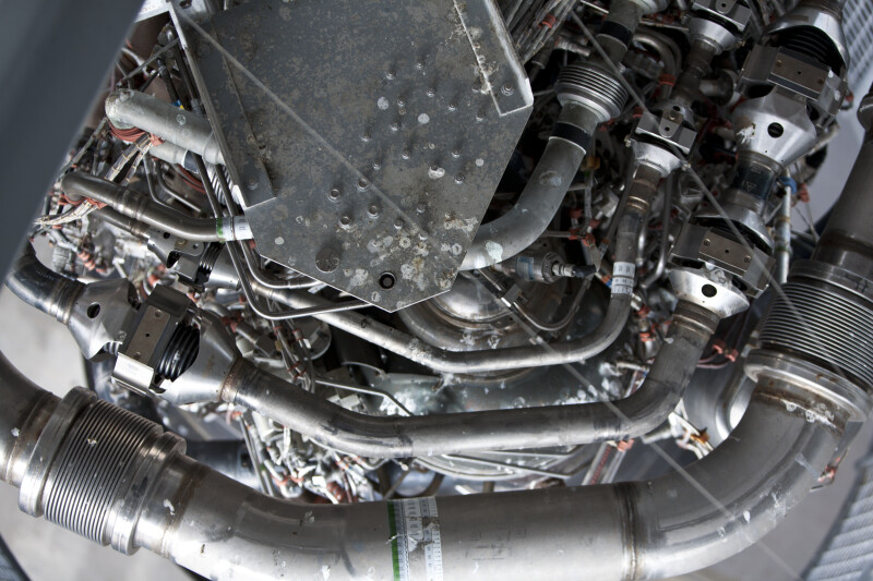Close-up of Space Shuttle Engine