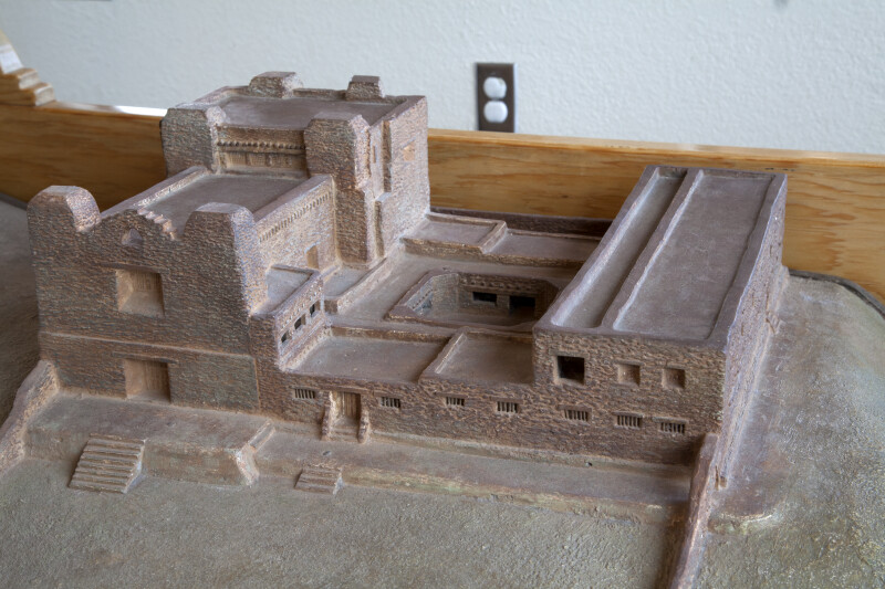 Close-up of The Model Convento at the Quarai Ruins
