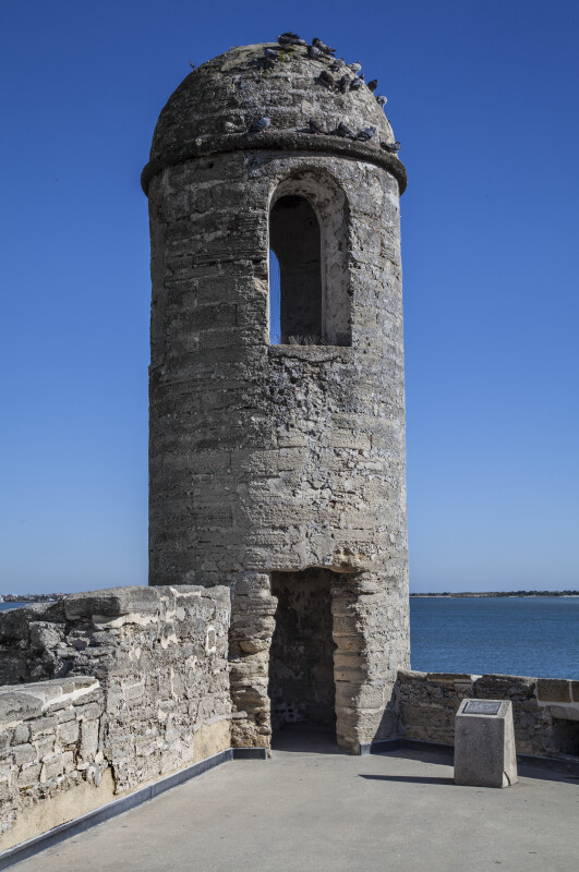 Close-Up View of Castillo de San Marcos' Main Watch Tower