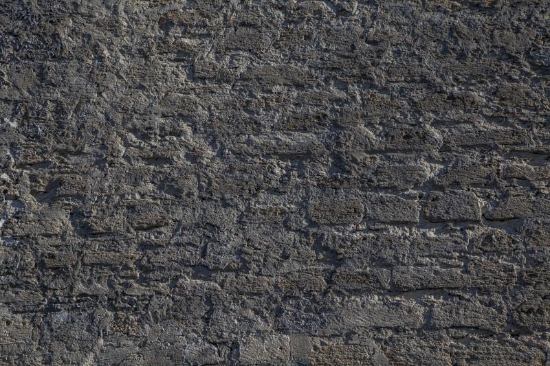 Close-up View of Masonry Wall at Fort Matanzas