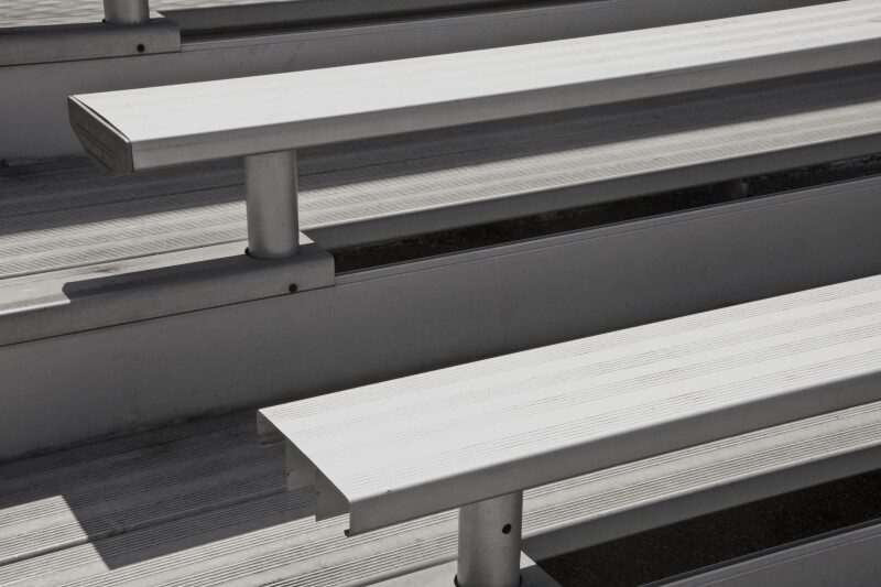 Close-Up View of Metal Bleachers