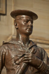 Close-Up View of Sailor Statue at Soliders and Sailors' Memorial Hall