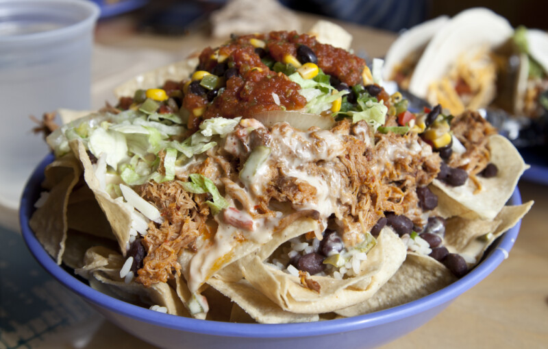 Closeup of a Gourmet Taco Salad