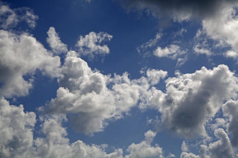 Clouds Against a Light-Blue Sky