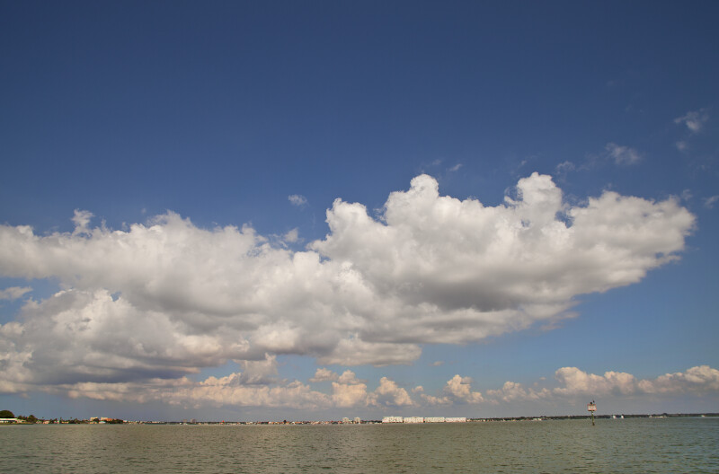 Clouds and Intracoastal Waterway