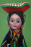Colombia Figure of Female with Hand Painted Facial Features (Close Up)