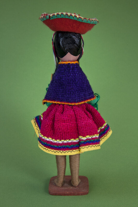 Colombian Girl with Ceramic Head and Wire Extremities (Back View)