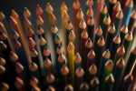 Colored Pencil Points, Dark Background
