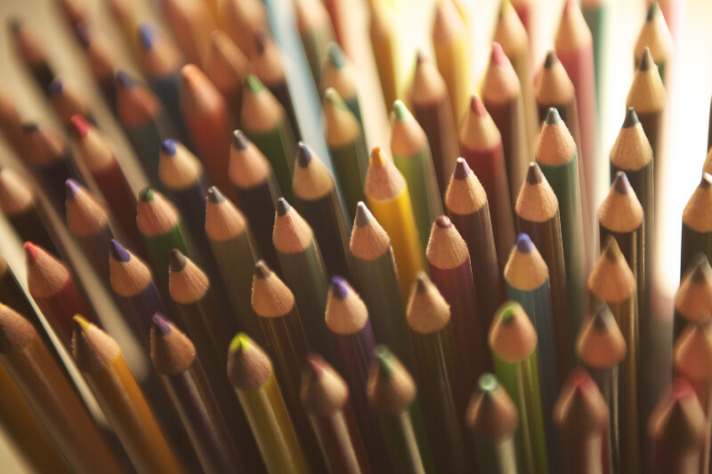Colored Pencil Points, Light Background