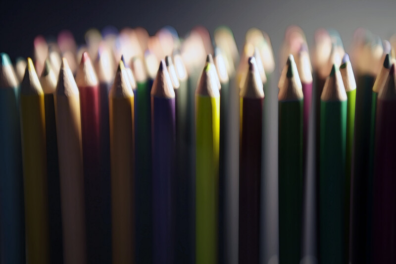 Colored Pencils in Light and Shadow