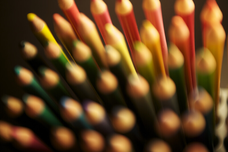 Colored Pencils with Soft Focus