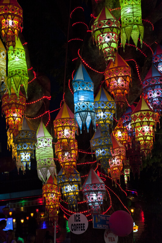 Colorful Fabric Lanterns in Kuşadası, Turkey