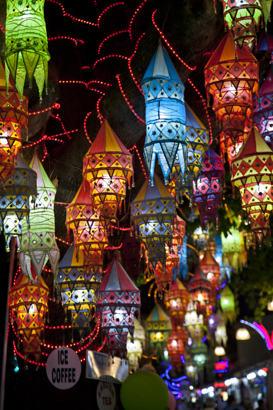 Colorful Fabric Lanterns
