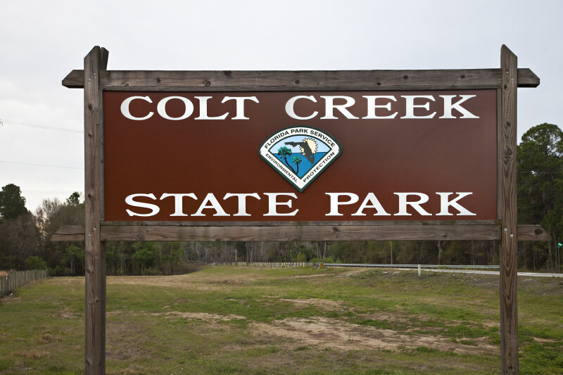 Colt Creek State Park Sign