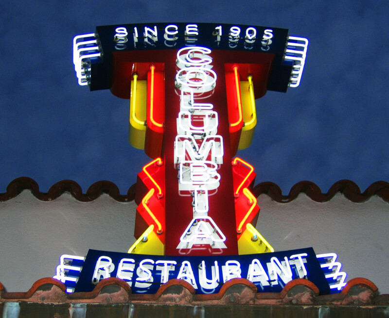 Columbia Restaurant Sign