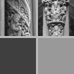 Columns with figural decoration photographs