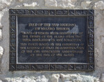 Commemorative Plaque at the San Antonio De Valero Mission
