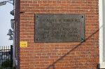 Commemorative Plaque on Brick Wall at the Charlestown Navy Yard