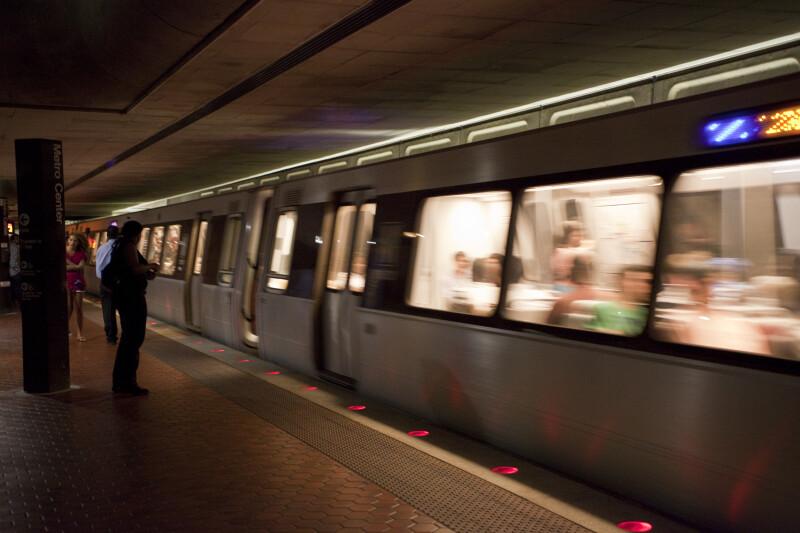 Commuters Boarding