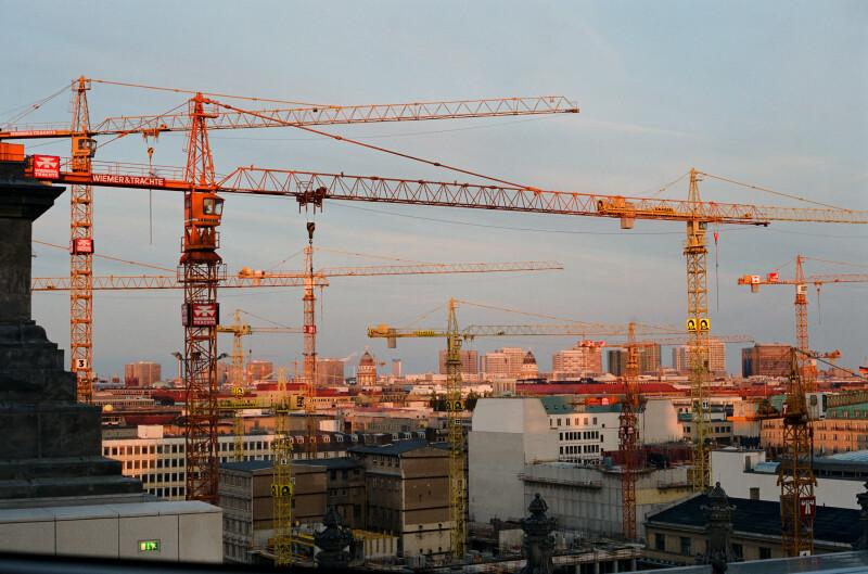 Construction Cranes over Berlin