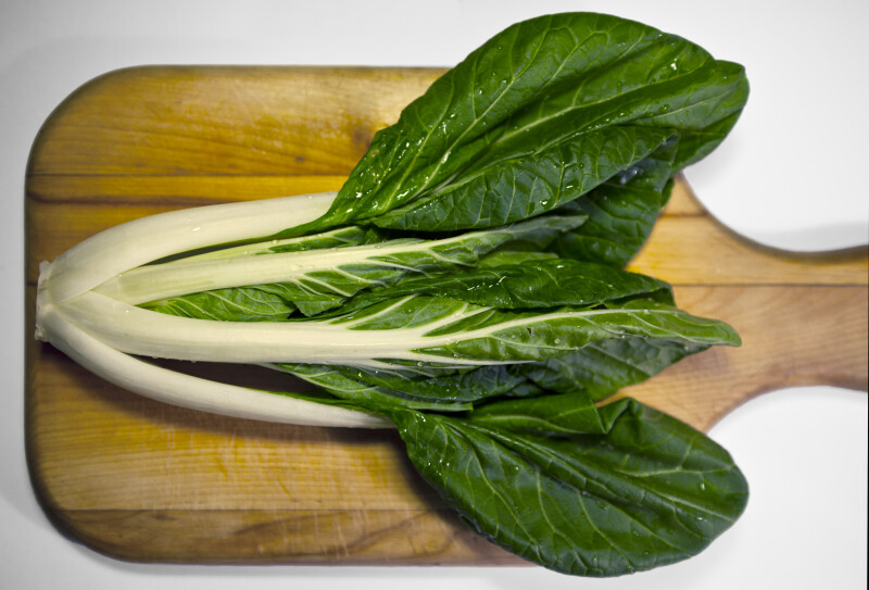 Bok Choy on a Cutting Board